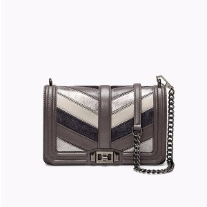 Patchwork Chevron Quilted Love Crossbody
