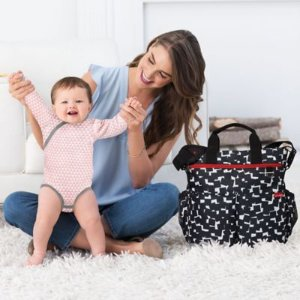SKIP*HOP® Duo Signature Diaper Bag in Black Cubes