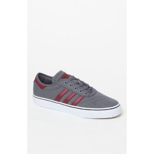 adidas adi Ease Premiere Gray and Burgundy Shoes at PacSun.com