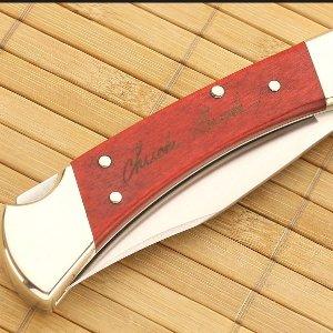 Buck Knives 110 Famous Folding Hunter Knife with Genuine Leather Sheath