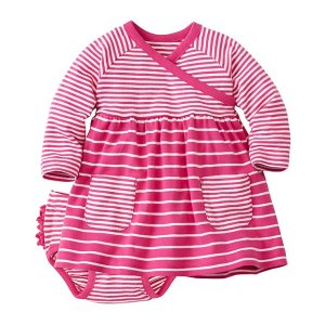 Baby Stripe Happy Crossover Dress Set | Sale Dresses Starting At $25 Baby