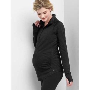 Maternity half-zip pullover