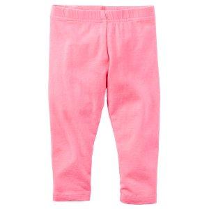 Baby Girl Garment-Dyed Capri Leggings | Carters.com