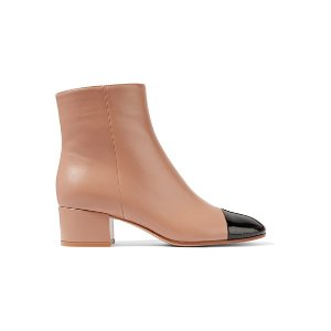 45 two-tone leather ankle boots