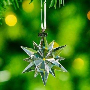 $28.33 销量冠军史低价:Swarovski 限量版2017圣诞水晶挂饰