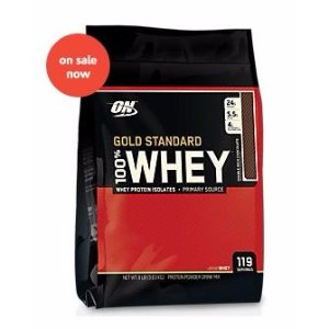 $64Optimum Nutrition 100% Whey Gold Standard DOUBLE RICH CHOCOLATE (8 Pound Powder)