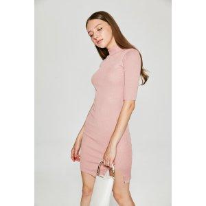 Short Sleeve Knit Dress DR6523 – FEW MODA