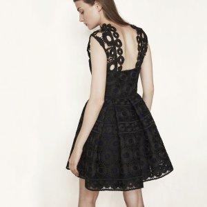 RODEO Bonded lace guipure dress - Dresses - Maje.com