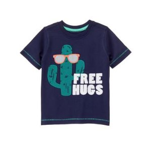 Toddler Boys Gym Navy Hugs Tee by Gymboree