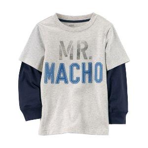 Layered-Look Mr. Macho Graphic Tee