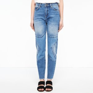 Jeans With Star Patch On The Knees - Jeans - Sandro-paris.com
