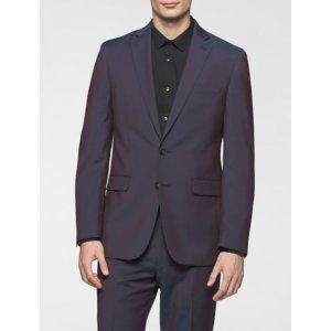 x fit ultra slim fit aubergine suit jacket | Calvin Klein