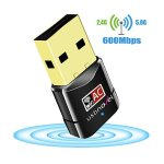 USB Wifi Adapter 600Mbps USBNOVEL Dual Band 2.4G / 5G Wireless Wifi Dongle Network Card