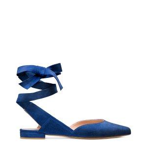 Supersonic Lace-Up Flats - Shoes | Shop Stuart Weitzman