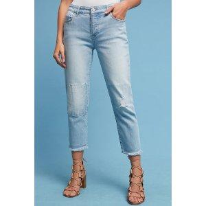 Pilcro Hyphen Mid-Rise Boyfriend Cropped Jeans