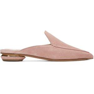 Nicholas Kirkwood: SSENSE Exclusive Pink Beya Slip-On Loafers