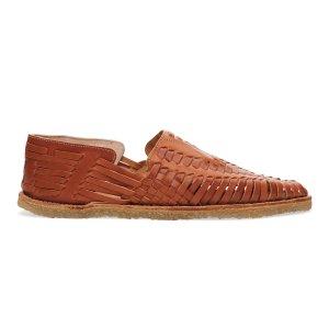Cognac Full Grain Leather Men's Huaraches | TOMS®