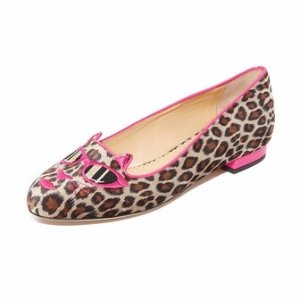 Charlotte Olympia Pretty in Pink Kitty Flats | SHOPBOP