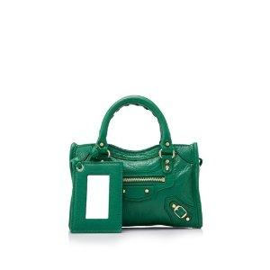 Balenciaga Classic Gold Nano City Bag