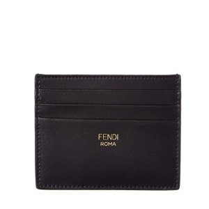 FENDI Fendi Bicolor Leather Cardholder