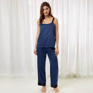 Anna Cami and Trouser Insignia Blue – Bluebella
