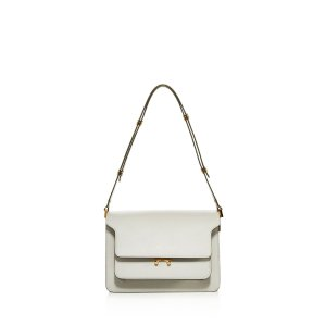 Marni Trunk Saffiano Leather Shoulder Bag | Bloomingdale's