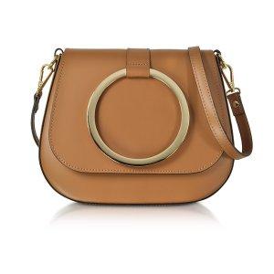 Le Parmentier Cognac Smooth Leather Shoulder Bag
