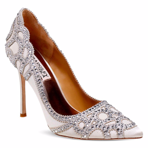 Rouge Embellished Pointed Toe Pumps