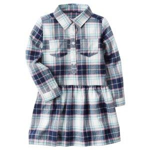 Plaid Drop-Waist Dress
