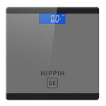 Hippih Digital Body Weight Bathroom Scale with Step-On Technology 400 Pounds, Tempered Glass, Digital Weight Scale Backlit LCD Display D-014SE