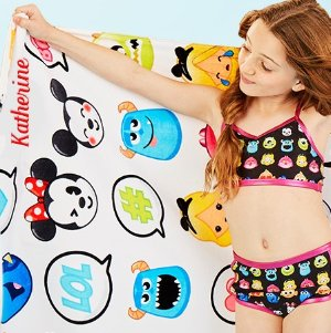 Today Only! Free Personalizationon Swim & Backpacks + $9 Beach Towels @ disneystore