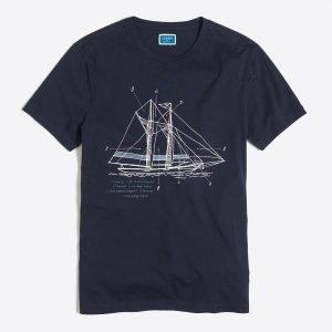 Ship T-shirt : stripes & graphics | J.Crew Factory