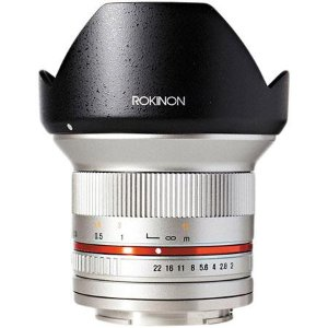 Rokinon 12mm F/2.0 Ultra Wide Angle Lens for Sony E Mount, Silver RK12M-E-SIL