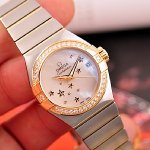 OMEGA Constellation Mother of Pearl Stainless Steel and Yellow Gold Ladies Watch