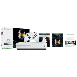 $249Xbox One S 500GB Halo Ultimate Console + COD WWII+ Battlefront II