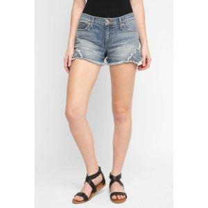 Joe's Jeans Applique Cut Off Denim Shorts   South Moon Under