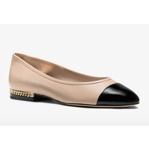 Sabrina Cap-Toe Leather Flat