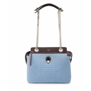 Fendi - Dotcom Click Quilted Denim Chain Satchel - saks.com