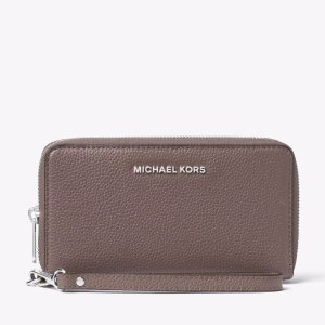 Mercer Large Leather Smartphone Wristlet   Michael Kors