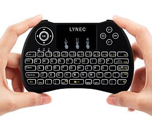 $10.99Lynec H9 Blacklit 2.4GHz Mini Wirless Touch Remote Keyboard Mouse