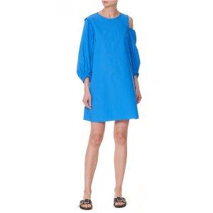 Sculpted Poplin Ruffle Dress - Sale | Official Site