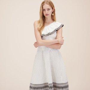 RASTA Jacquard knit asymmetrical dress - Dresses - Maje.com