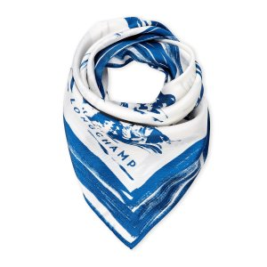 Blue Painted Tiger Square Scarf - Century 21