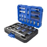 Kobalt Interchangeable Drive 46-Piece Standard (SAE) and Metric Mechanic's Tool Set with Hard Case