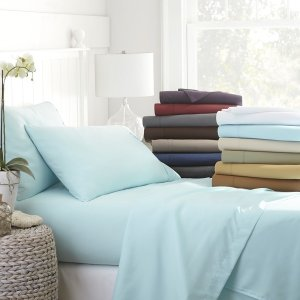 Becky Cameron Luxury Ultra Soft 4-piece Bed Sheet Set - Free Shipping On Orders Over $45 - Overstock.com - 16437098