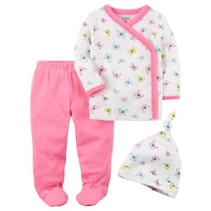 Baby Girl 3-Piece Neon Footed Pant Set | Carters.com