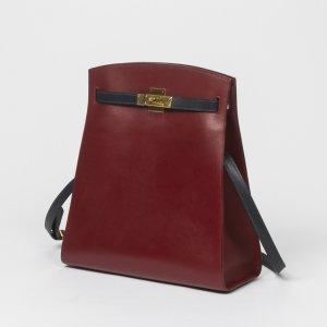 red Plain HERMÈS Handbag - Vestiaire Collective
