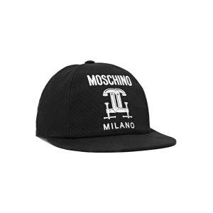 Moschino Printed cotton-canvas cap