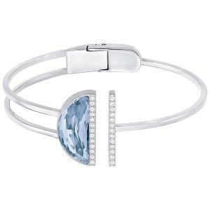 Glow Bangle, Blue - Jewelry - Swarovski Online Shop