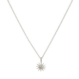 necklaces - make a wish on a chain accomplish magnificent starburst necklace, sterling silver